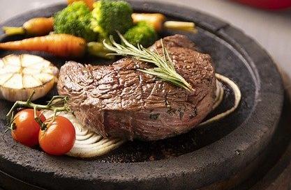 steak, beef, food